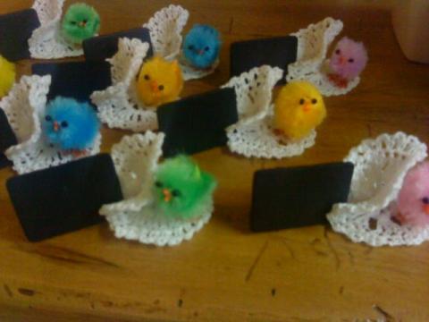 crochet d\'art/déco/creches de noel » Décoration tables de Pâques
